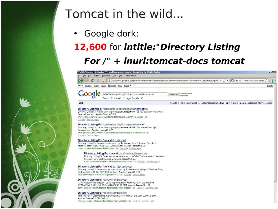 "intitle:""directory Listing"