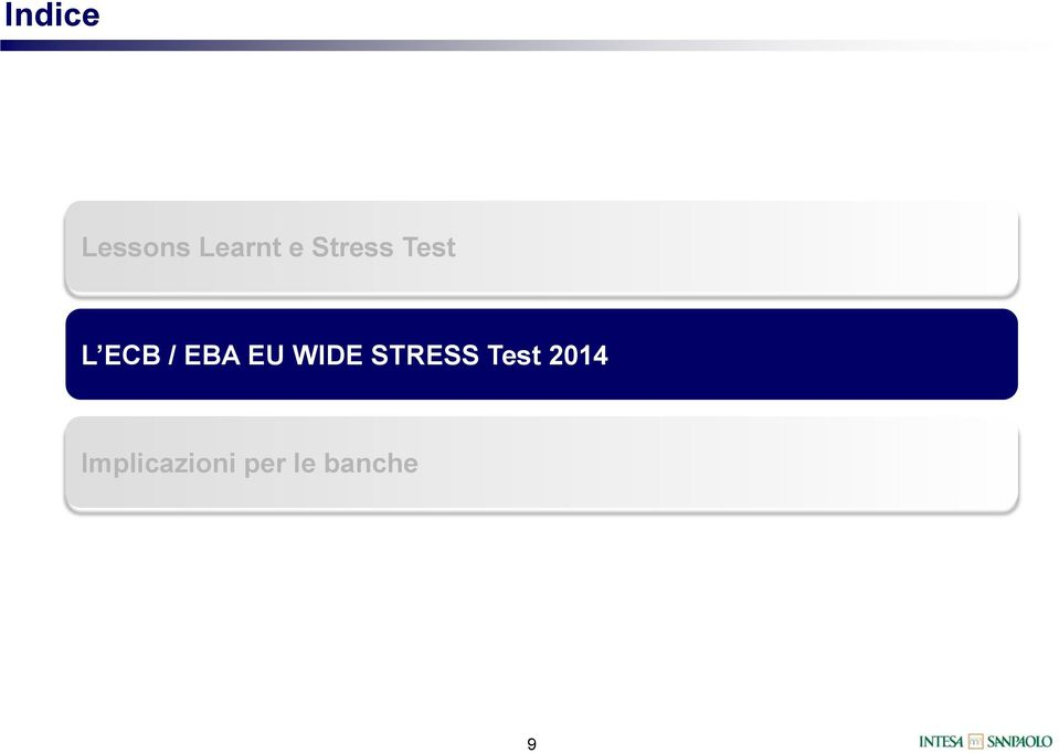 EU WIDE STRESS Test 2014