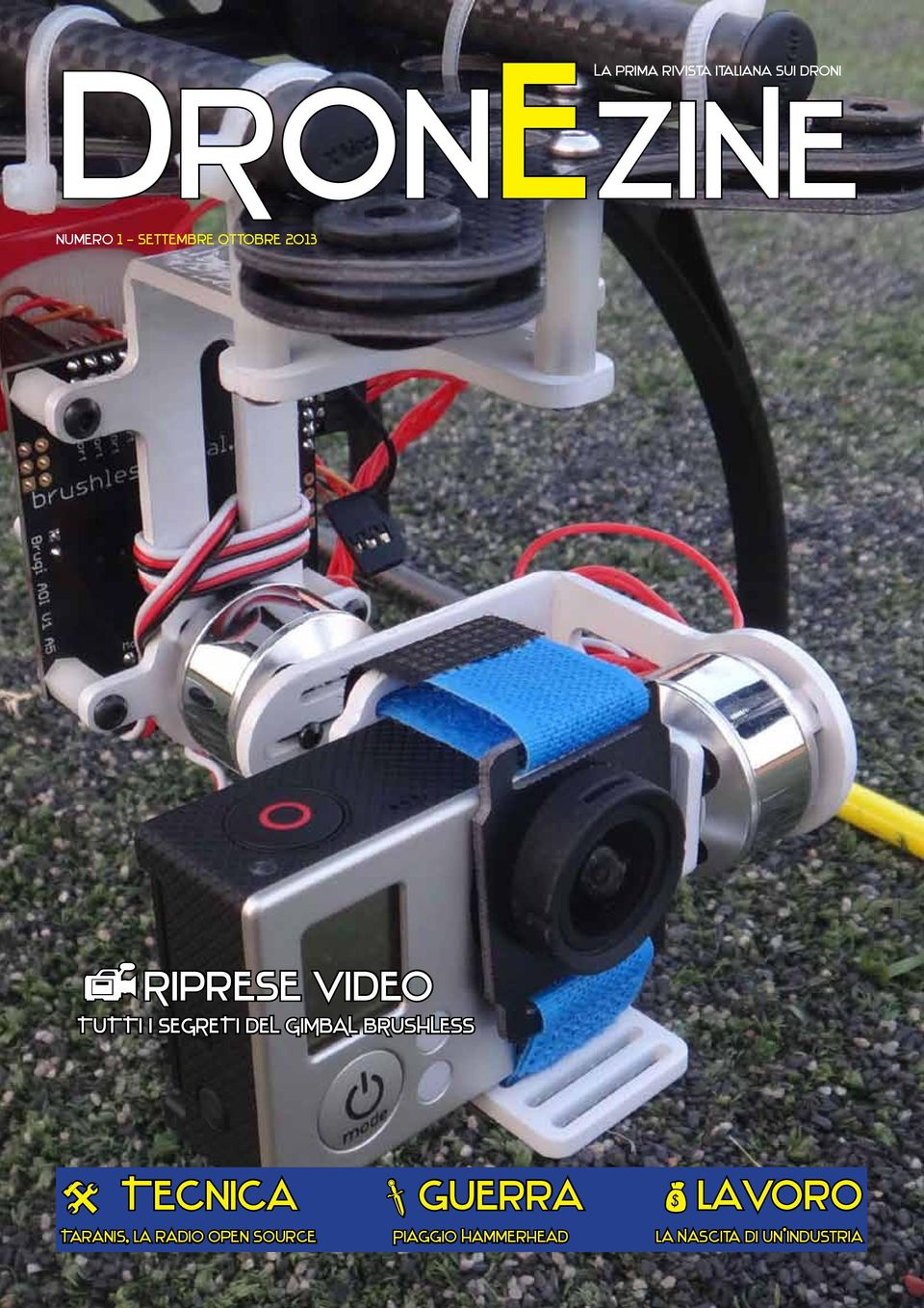GIMBAL BRUSHLESS Tecnica Taranis, la radio open source