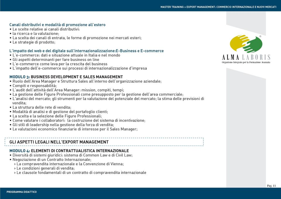 determinanti per fare business on line L e-commerce come leva per la crescita del business L impatto dell e-commerce sui processi di internazionalizzazione d impresa MODULO 3: BUSINESS DEVELOPMENT E