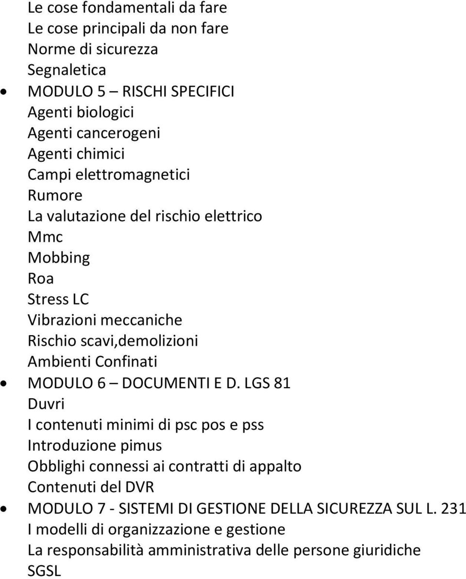 Confinati MODULO 6 DOCUMENTI E D.