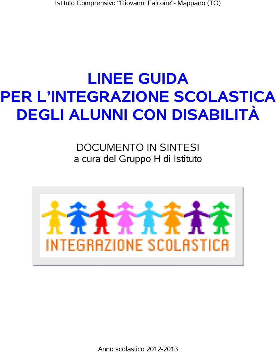DISABILITÀ DOCUMENTO IN SINTESI a