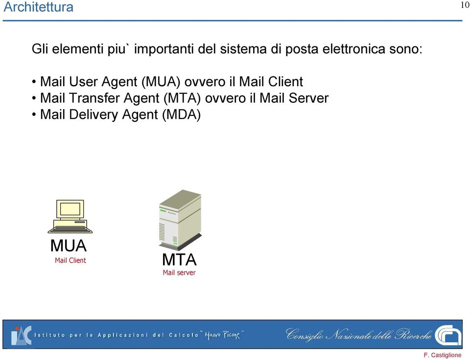 Mail Client Mail Transfer Agent (MTA) ovvero il Mail