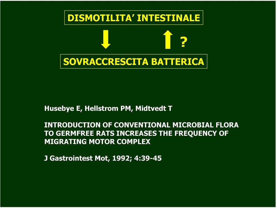 Midtvedt T INTRODUCTION OF CONVENTIONAL MICROBIAL FLORA