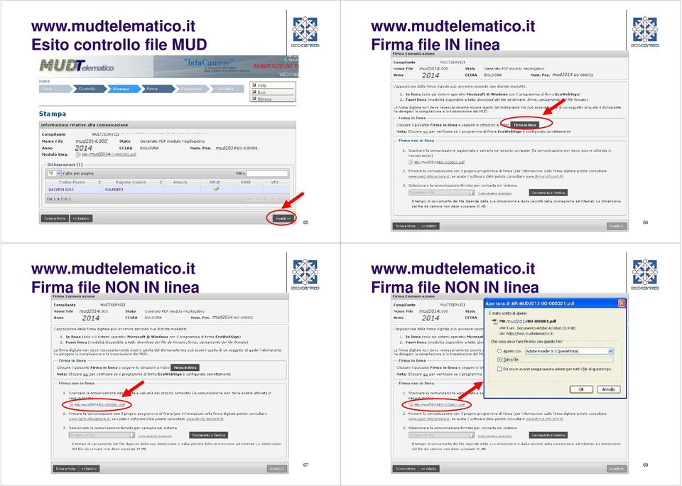 Firma file NON IN linea