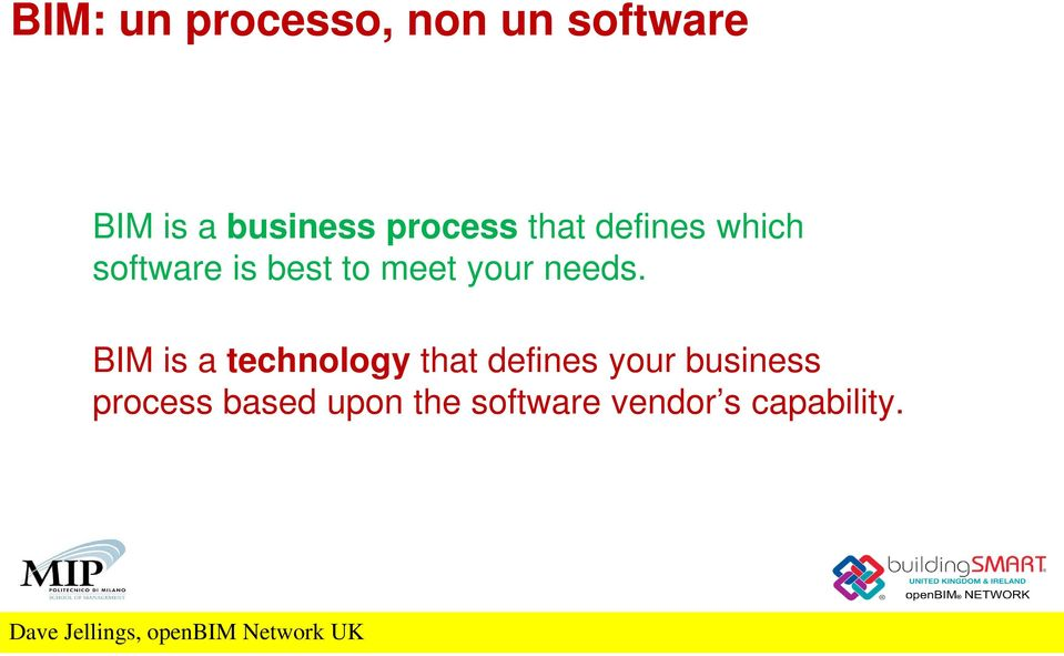BIM is a technology that defines your business process based