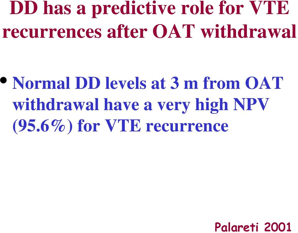 levels at 3 m from OAT withdrawal have a