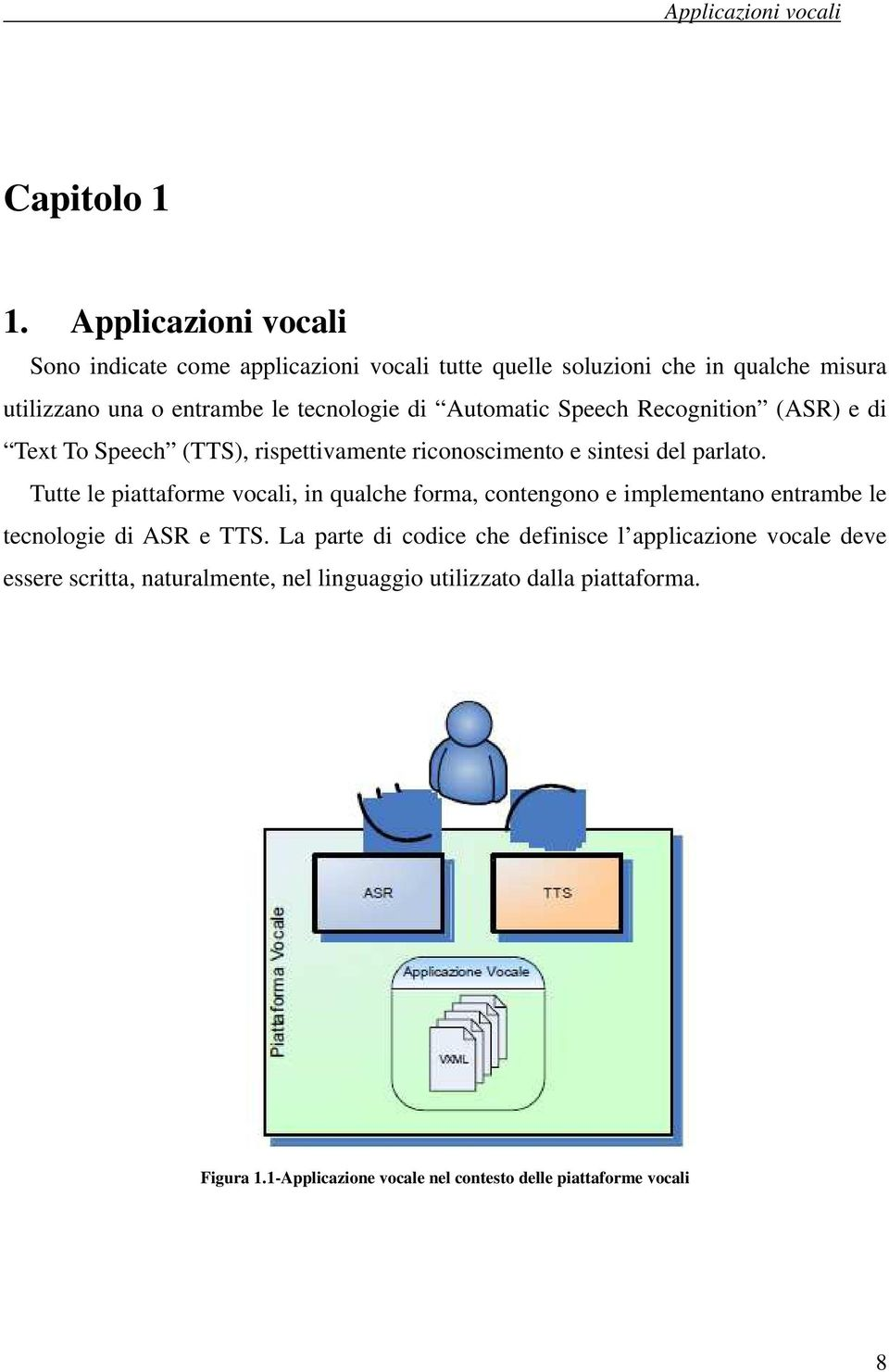 Automatic Speech Recognition (ASR) e di Text To Speech (TTS), rispettivamente riconoscimento e sintesi del parlato.