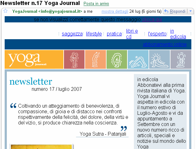 McGovern), seguono il nome della newsletter (New Thinking) e il tema del numero (Web changes nature of organization). Fig.