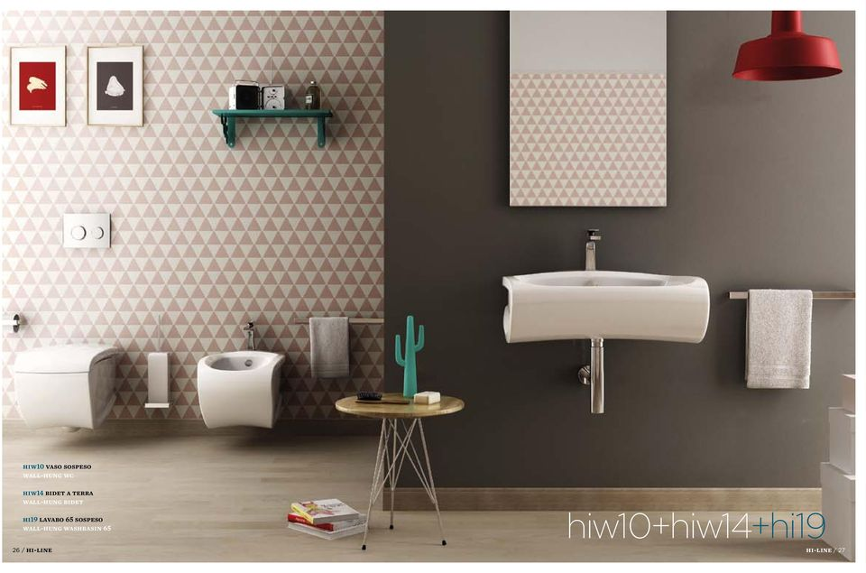 lavabo 65 sospeso wall-hung washbasin