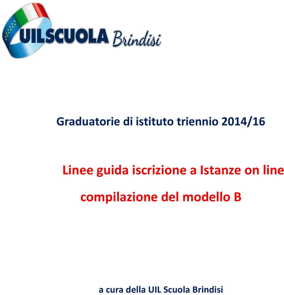 Istanze on line compilazione del