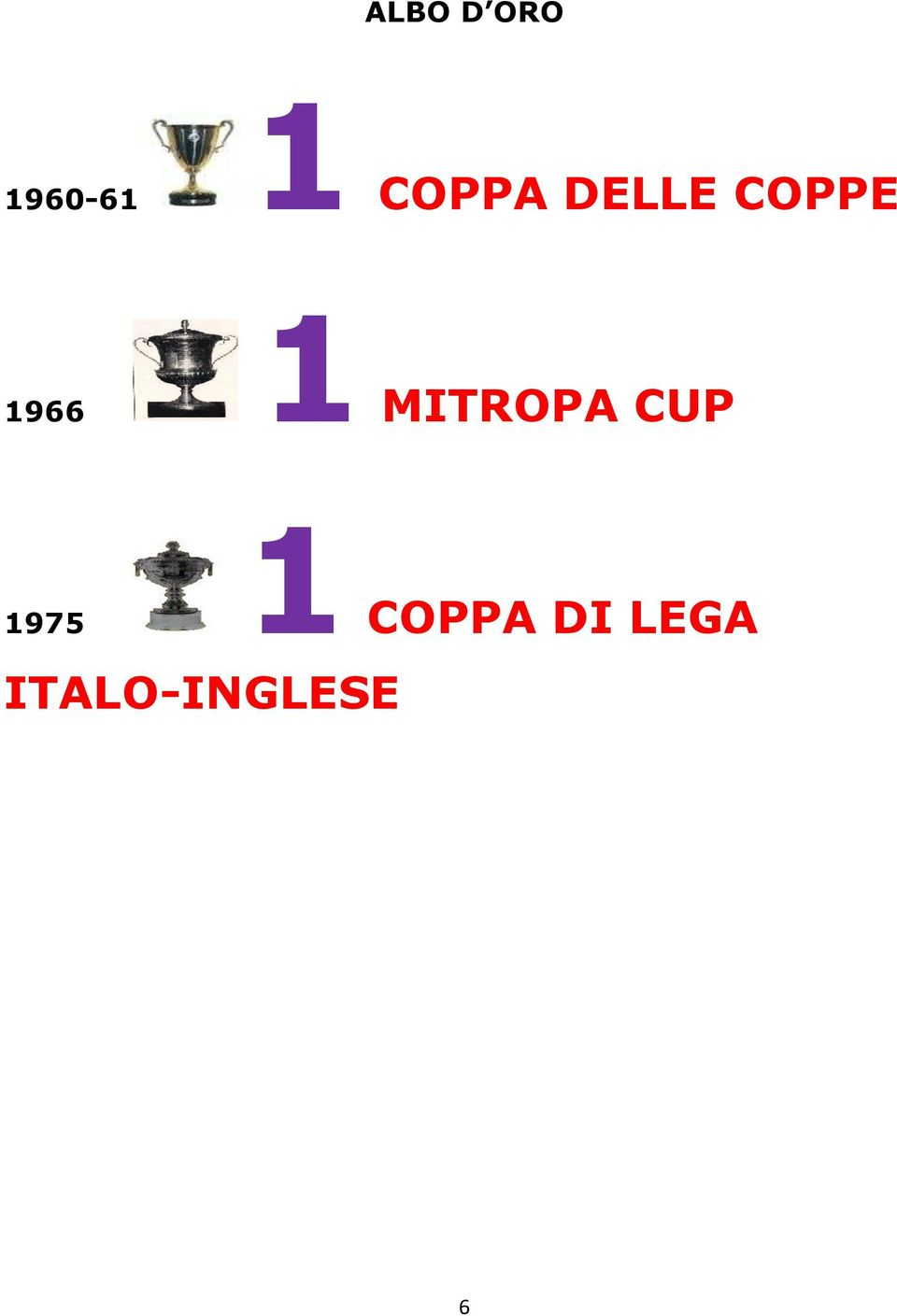 1 MITROPA CUP 1 1975