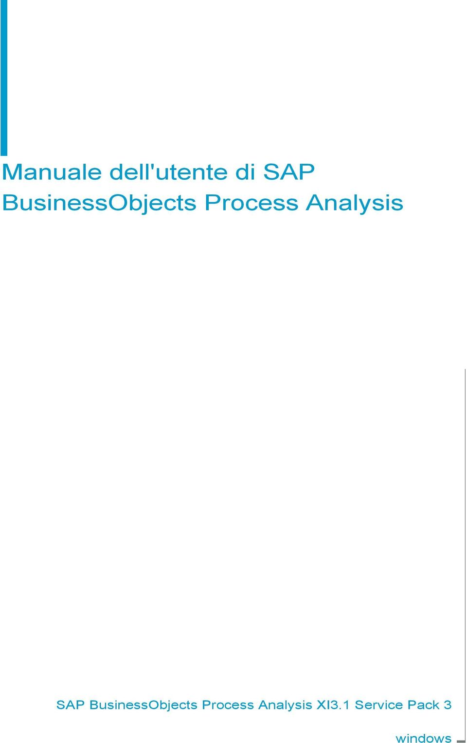 Analysis SAP  Analysis XI3.