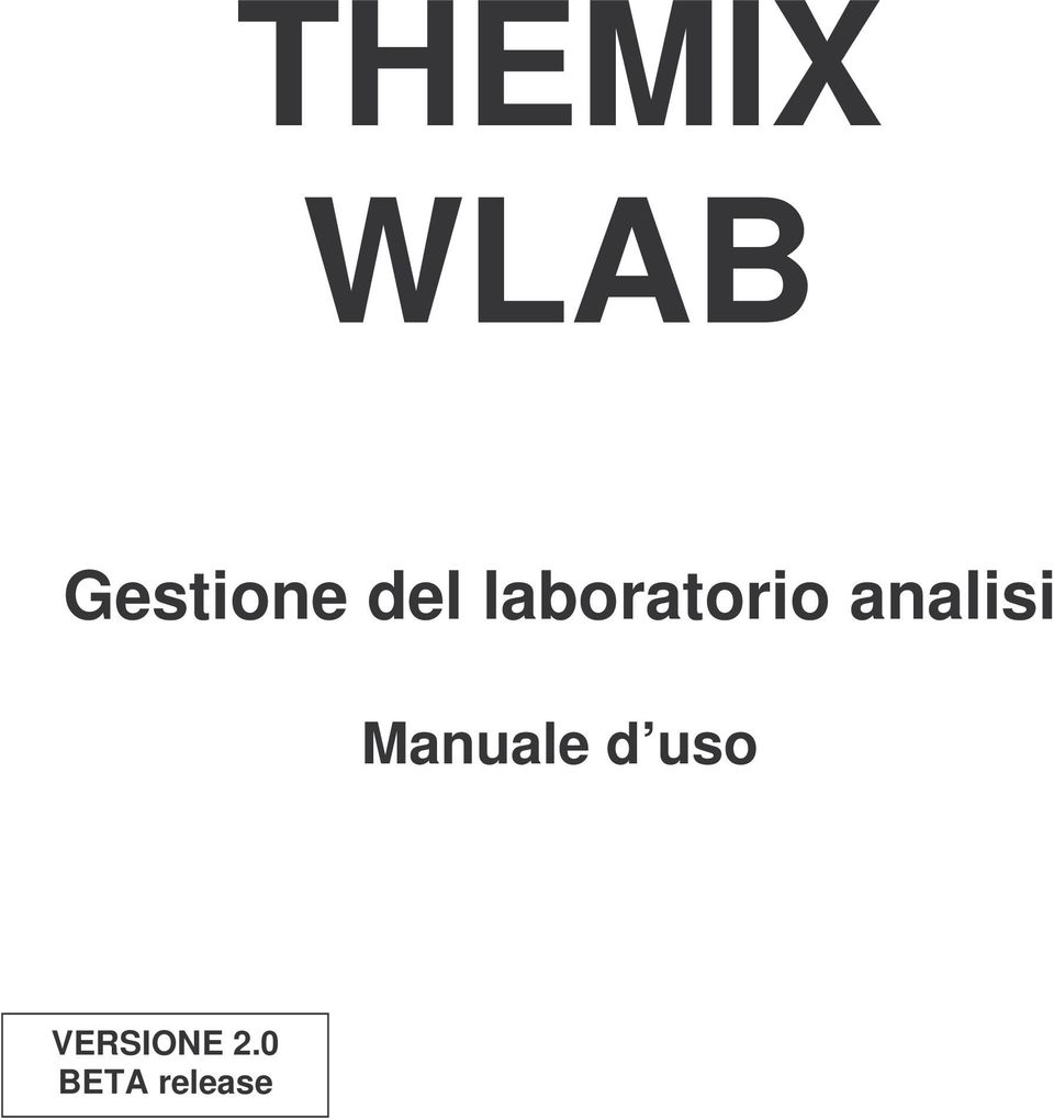 analisi Manuale d