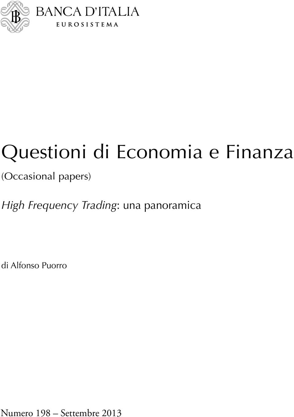 Frequency Trading: una panoramica