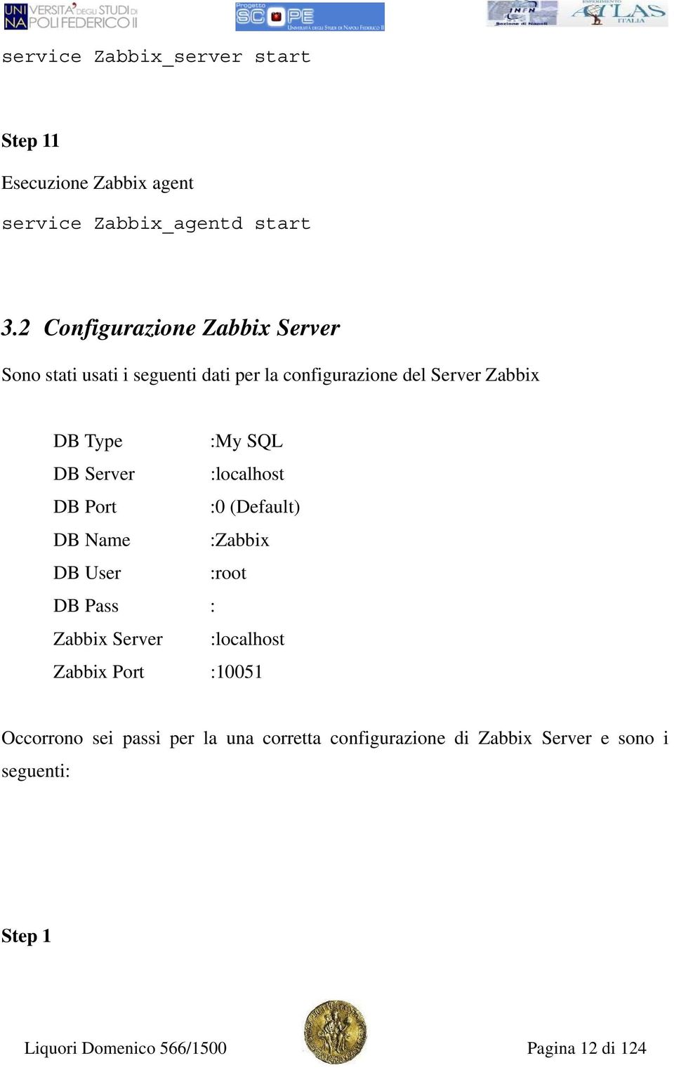 SQL DB Server :localhost DB Port :0 (Default) DB Name :Zabbix DB User :root DB Pass : Zabbix Server :localhost Zabbix