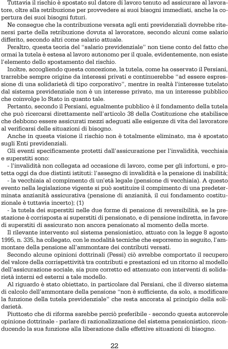 L ordinamento pensionistico pdf for Conto tutela