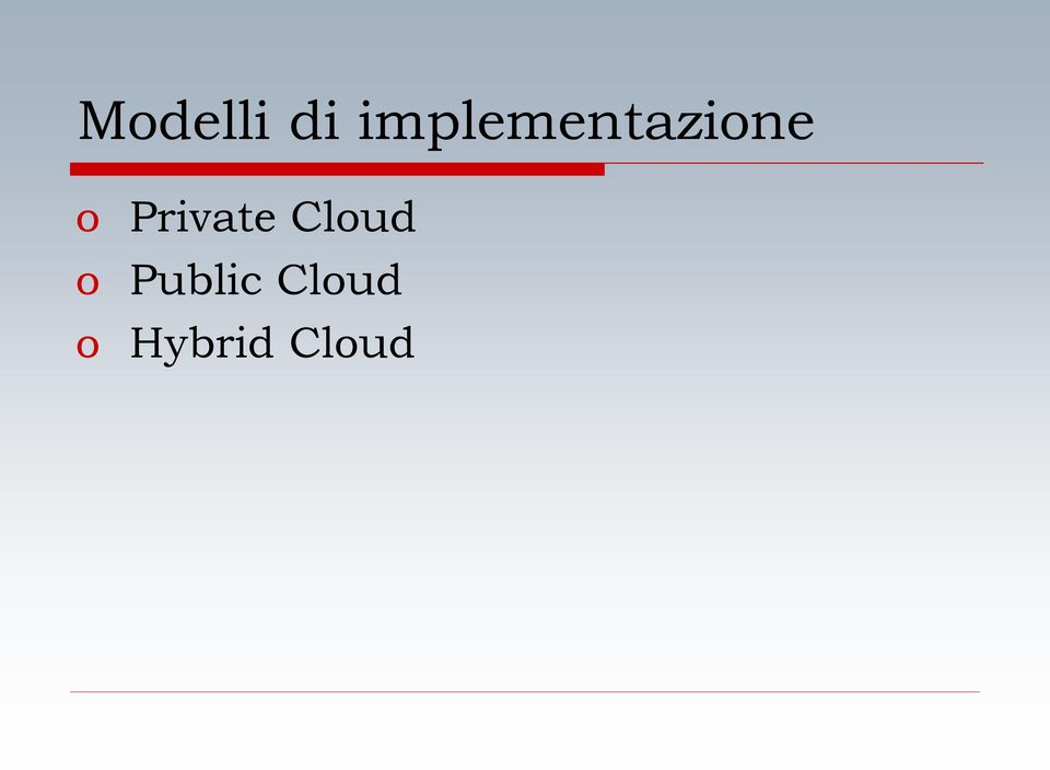Private Cloud o