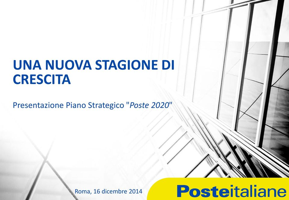 "Piano Strategico ""Poste"