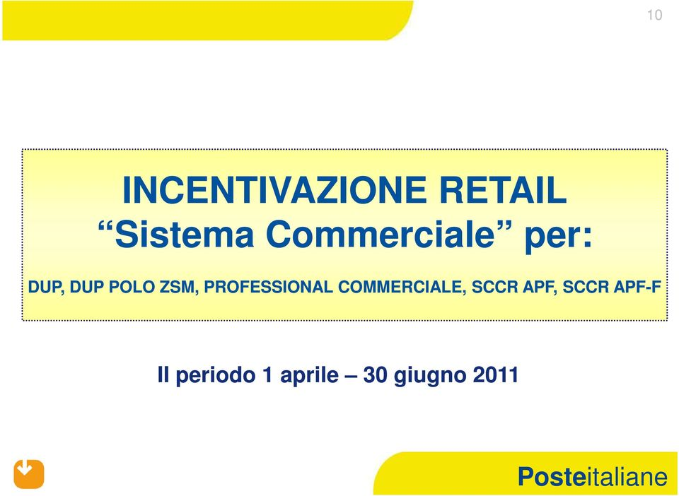 PROFESSIONAL COMMERCIALE, SCCR APF,