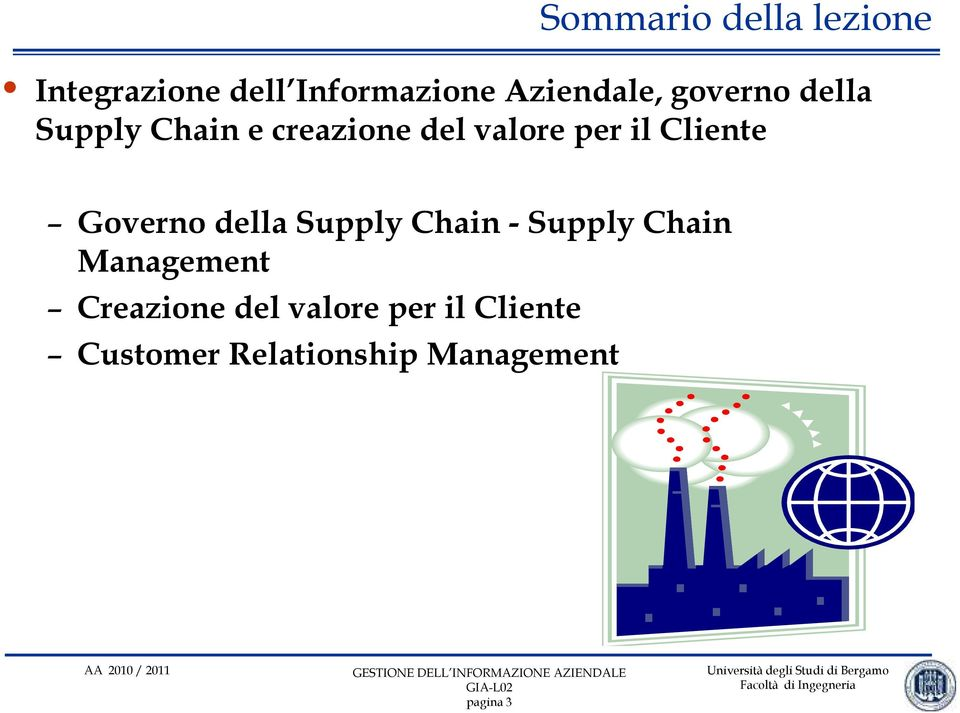 Governo della Supply Chain - Supply Chain Management Creazione