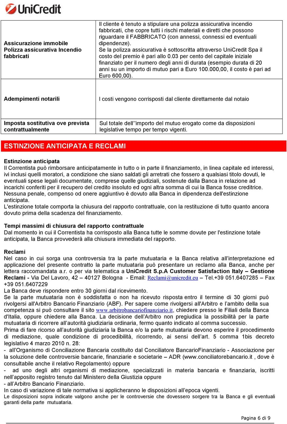 Apertura di credito ipotecaria private pdf for Costo notaio mutuo