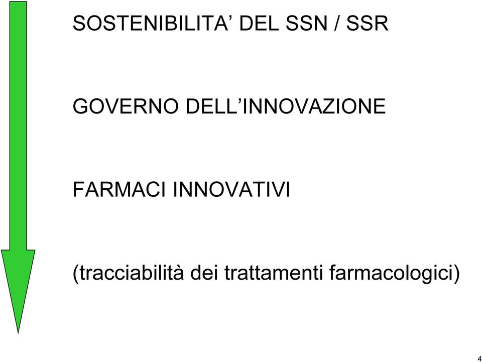 FARMACI INNOVATIVI