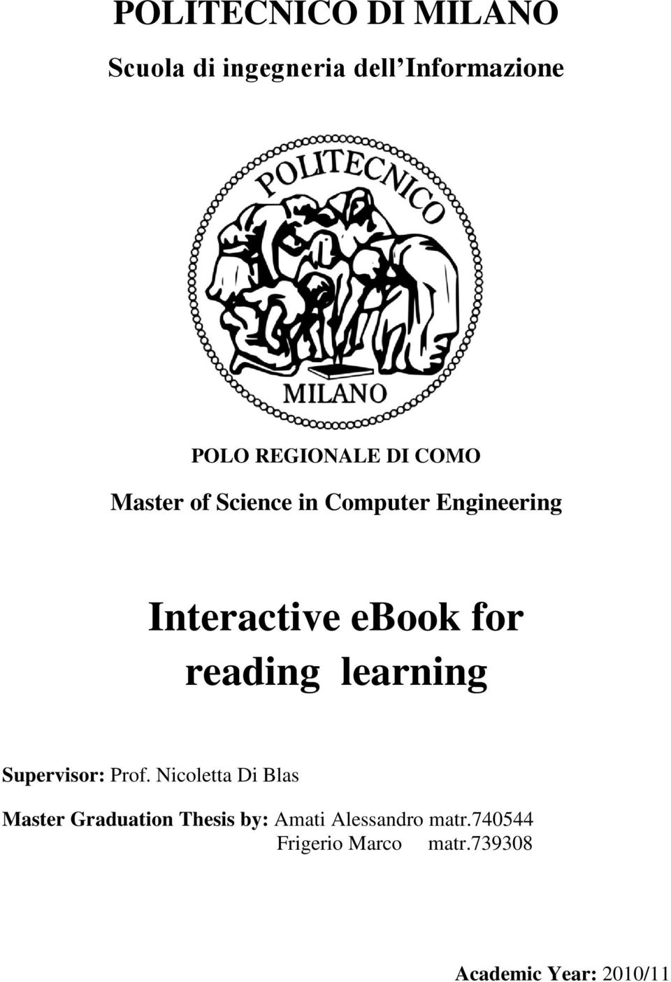 reading learning Supervisor: Prof.