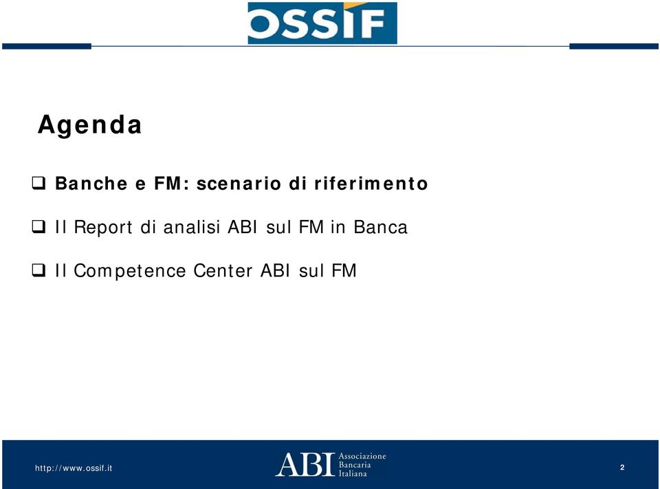 analisi ABI sul FM in Banca