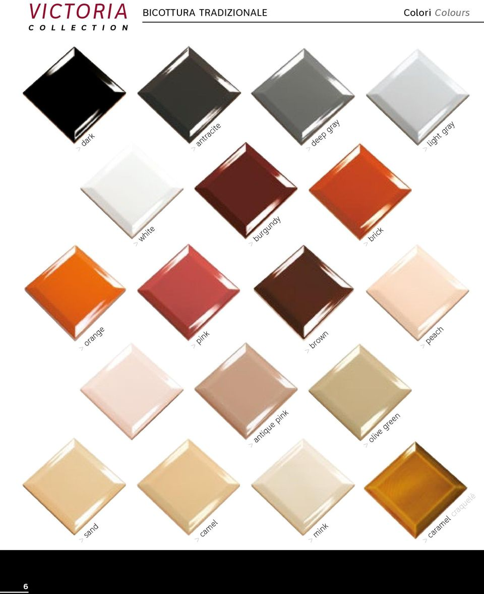 > burgundy > brick > orange > pink > brown > peach > antique