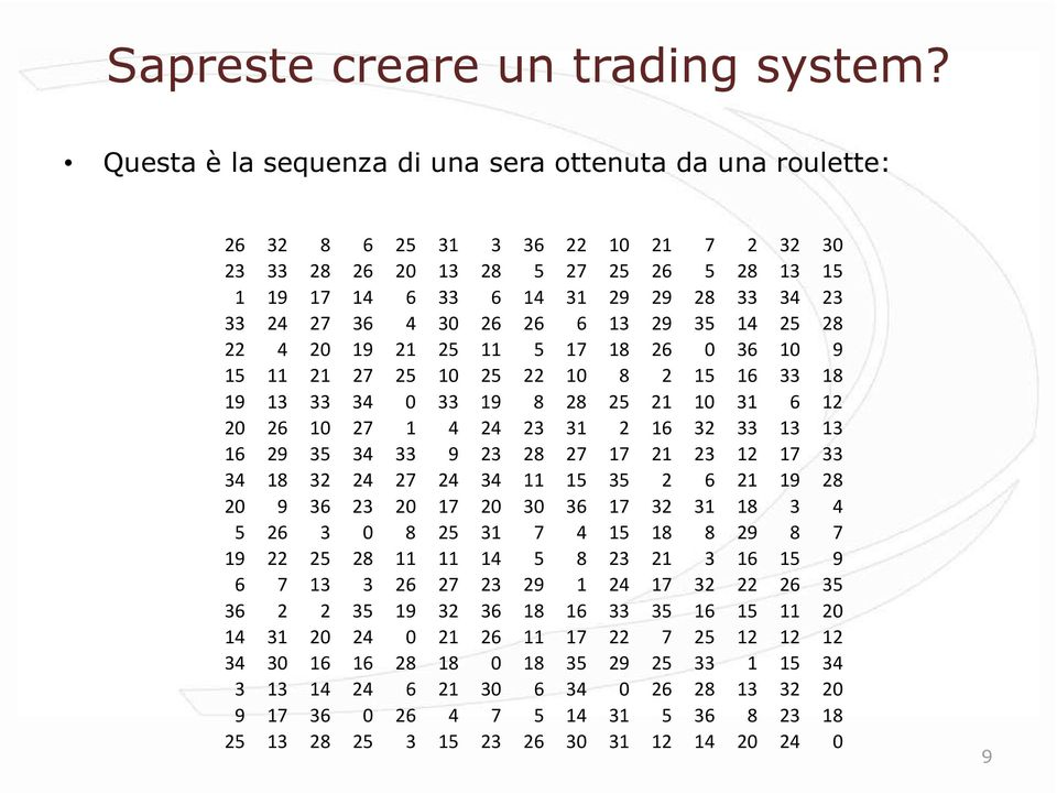 Valutare un trading system