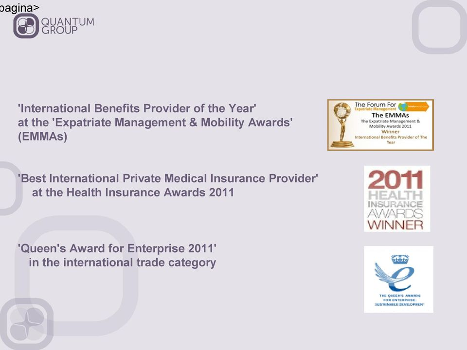 International Private Medical Insurance Provider' at the Health