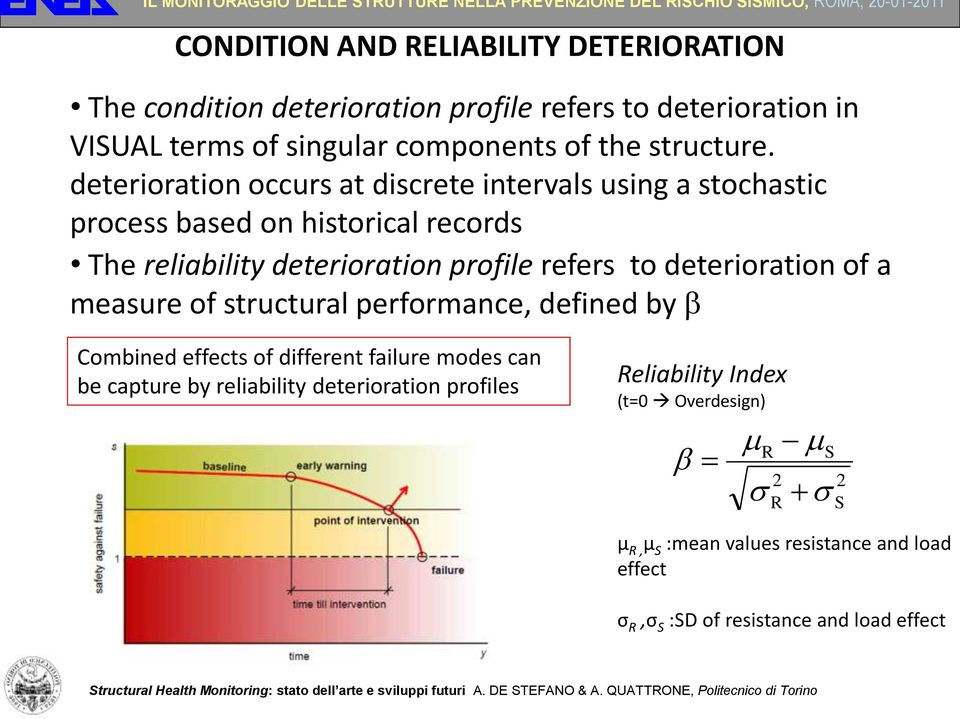 deterioration occurs at discrete intervals using a stochastic process based on historical records The reliability deterioration profile refers to