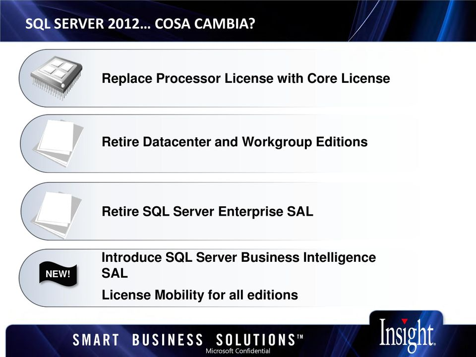and Workgroup Editions Retire SQL Server Enterprise SAL NEW!