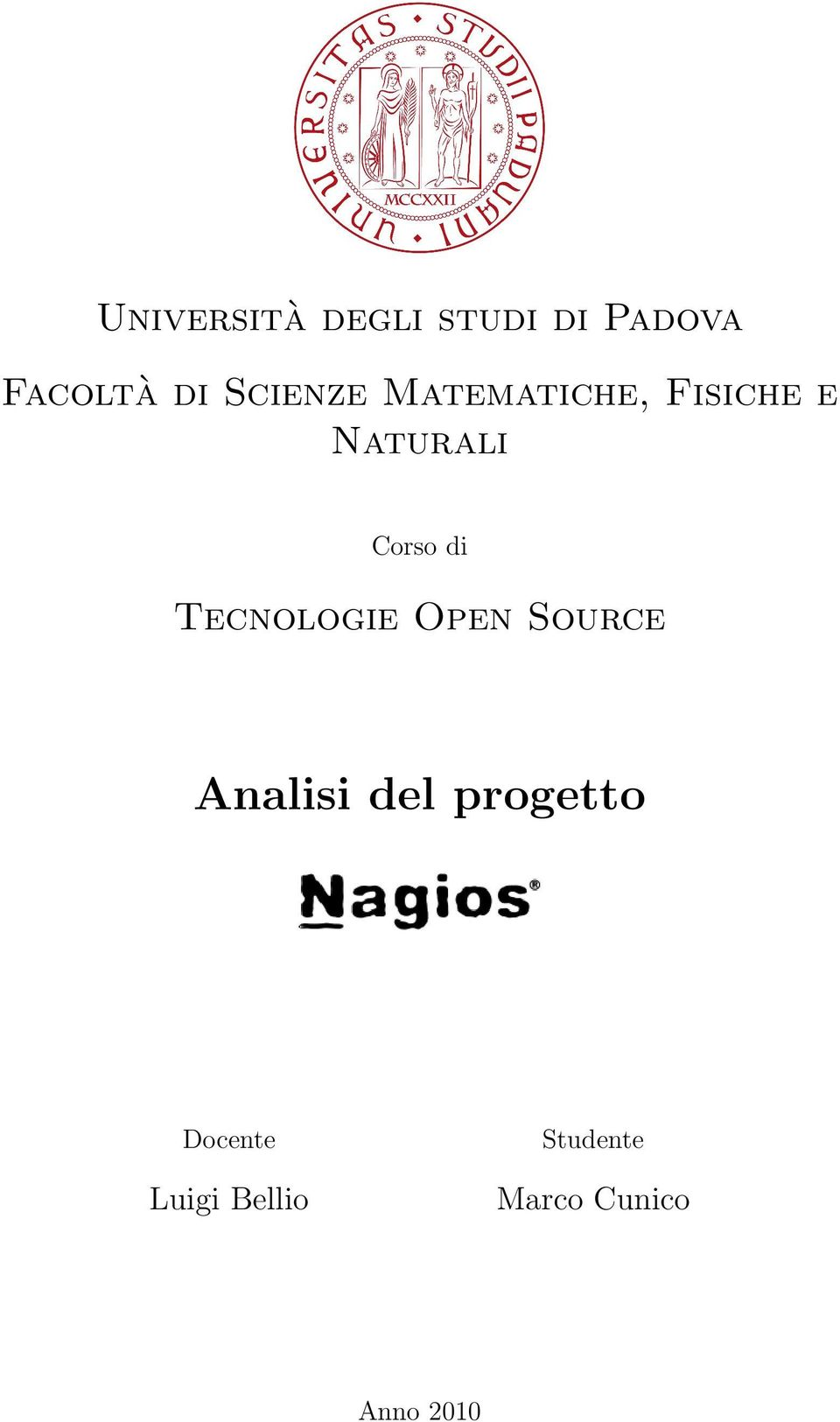 di Tecnologie Open Source Analisi del progetto