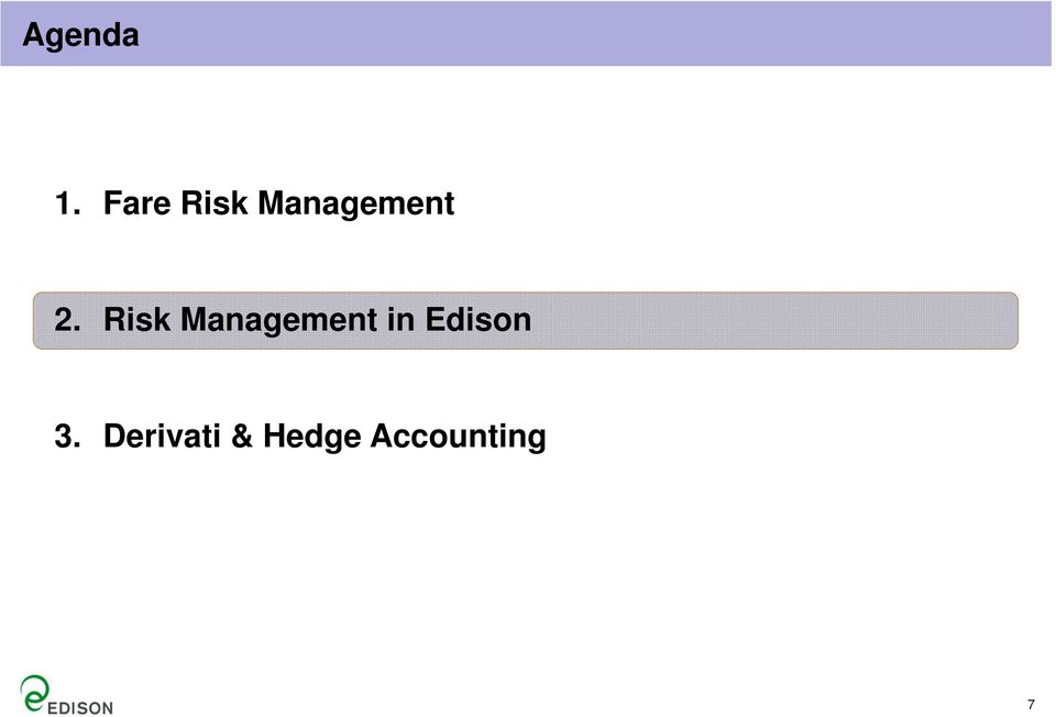 Risk Management in