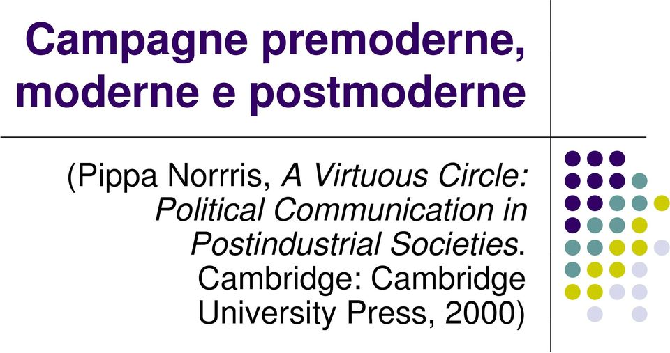 Political Communication in Postindustrial