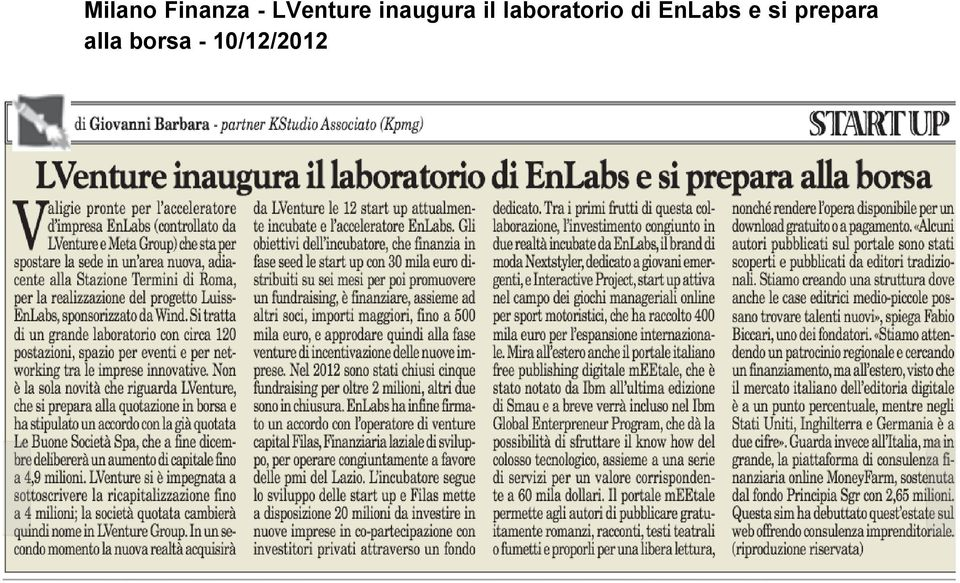 laboratorio di EnLabs e