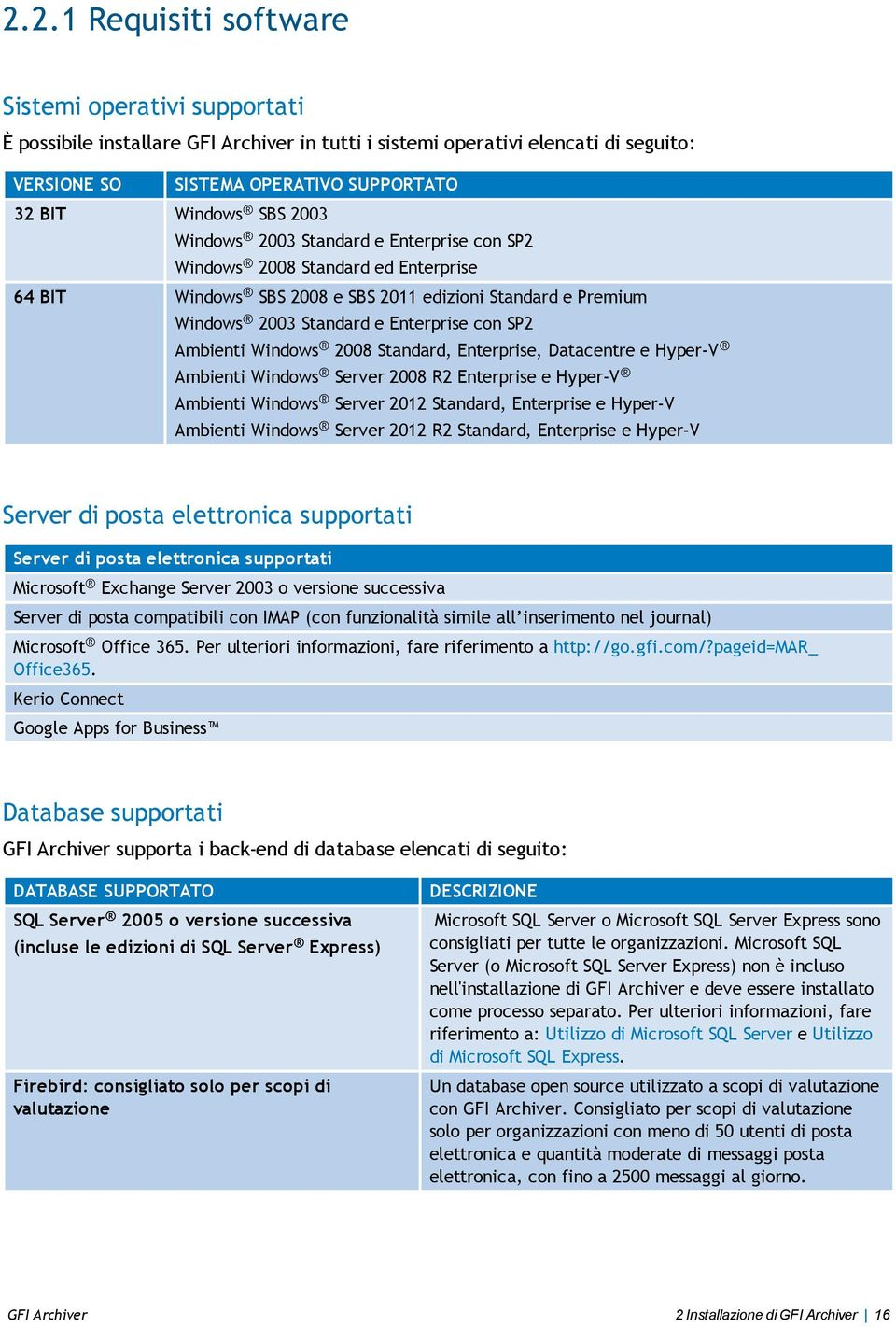 Windows 2008 Standard, Enterprise, Datacentre e Hyper-V Ambienti Windows Server 2008 R2 Enterprise e Hyper-V Ambienti Windows Server 2012 Standard, Enterprise e Hyper-V Ambienti Windows Server 2012