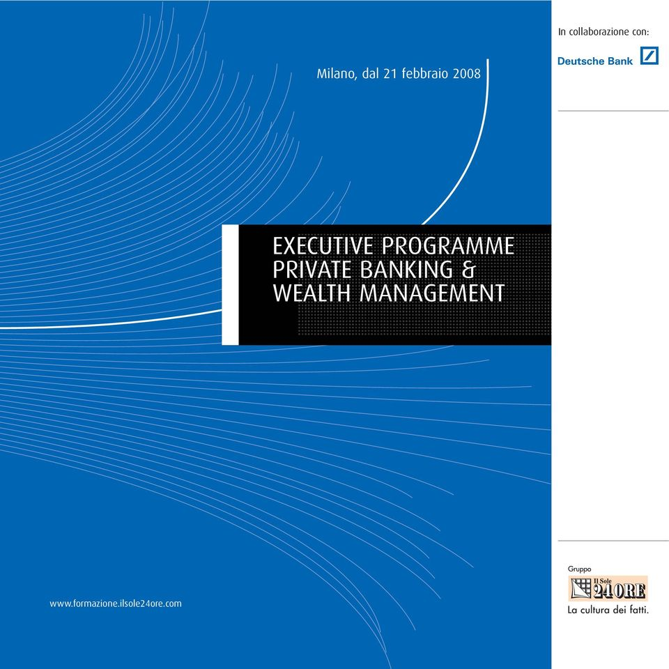 PROGRAMME PRIVATE BANKING & WEALTH
