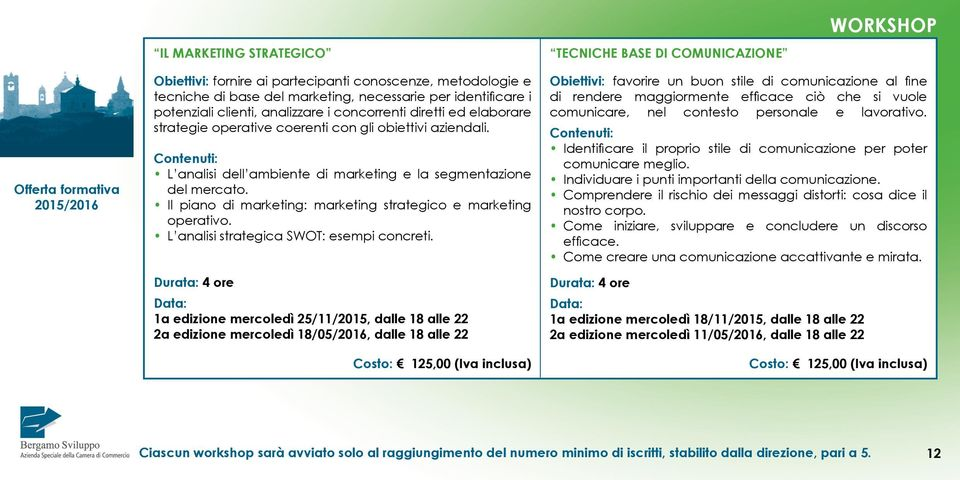 Il piano di marketing: marketing strategico e marketing operativo. L analisi strategica SWOT: esempi concreti.