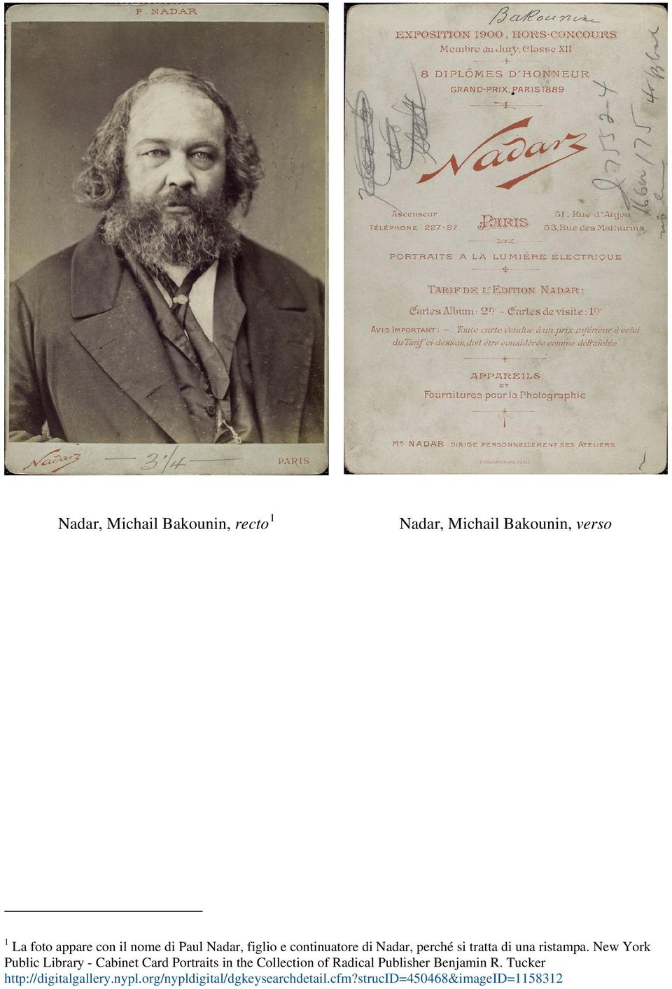 New York Public Library - Cabinet Card Portraits in the Collection of Radical Publisher