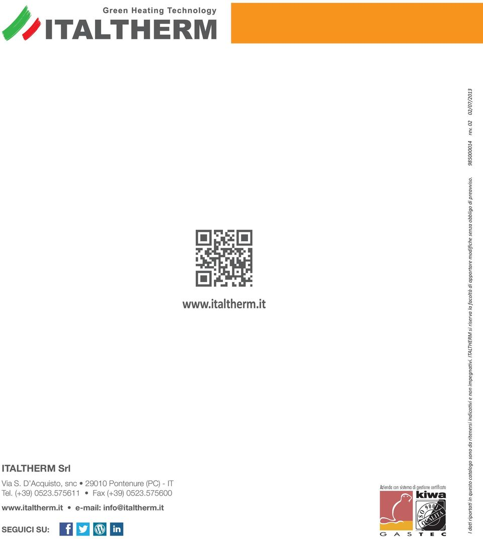 it e-mail: info@italtherm.