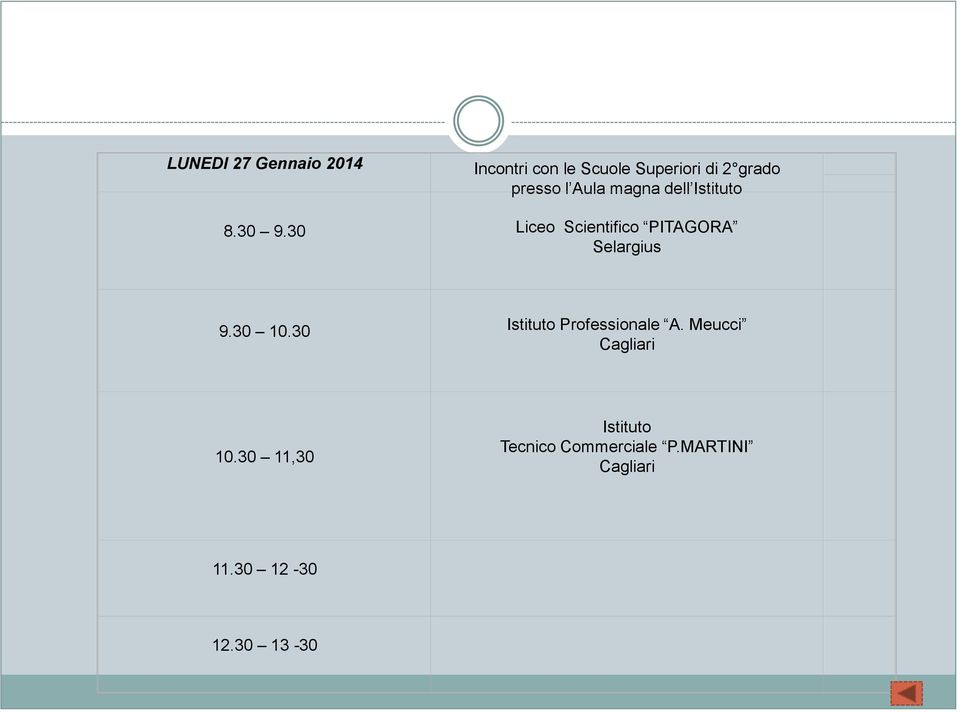 30 Liceo Scientifico PITAGORA Selargius 9.30 10.