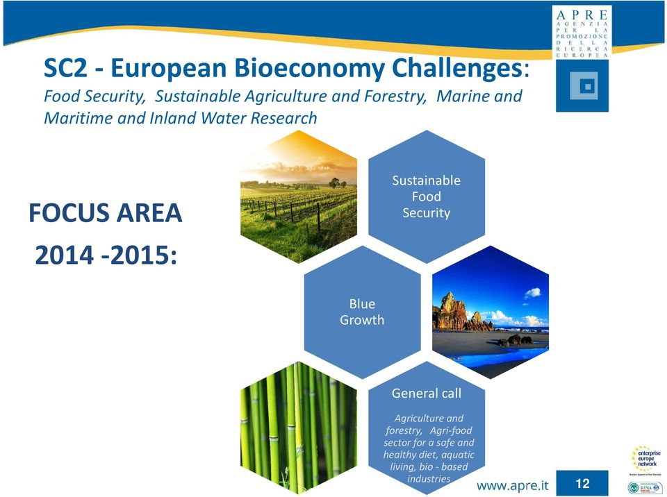 Sustainable Food Security Blue Growth General call Agricultureand forestry,