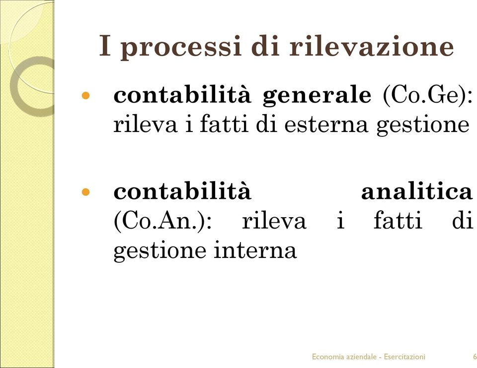 contabilità analitica (Co.An.