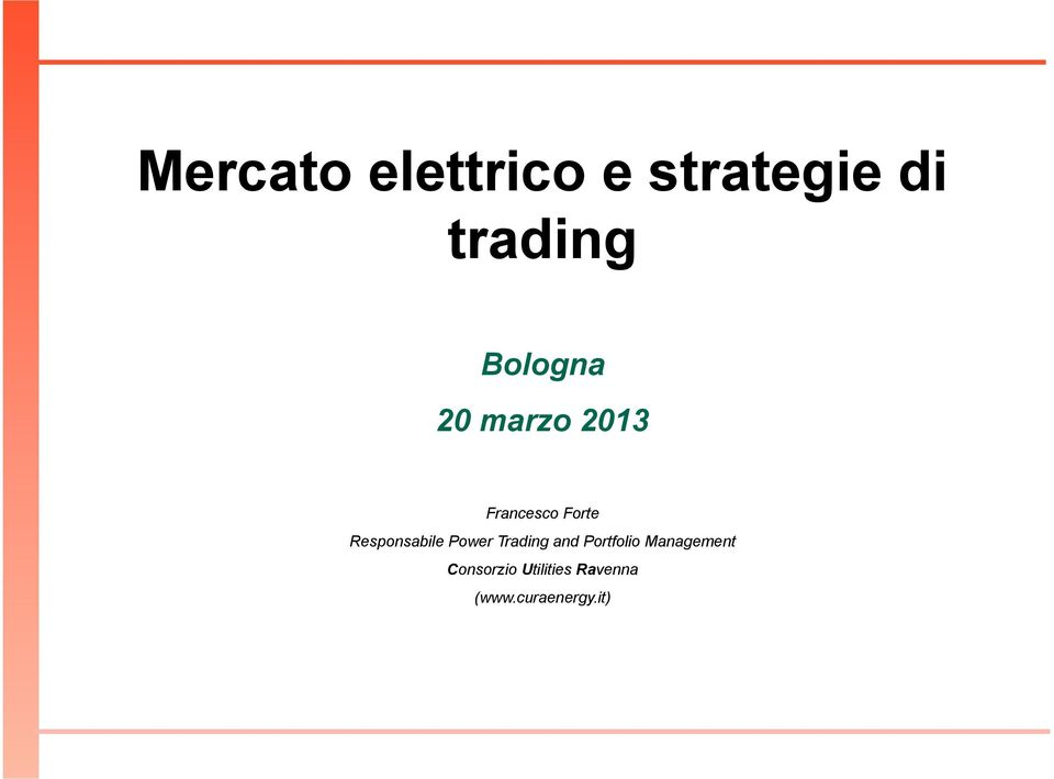 Responsabile Power Trading and Portfolio