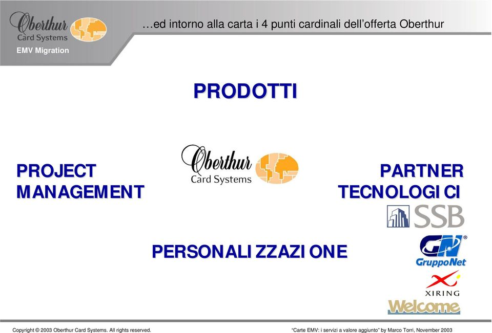 PRODOTTI PROJECT MANAGEMENT