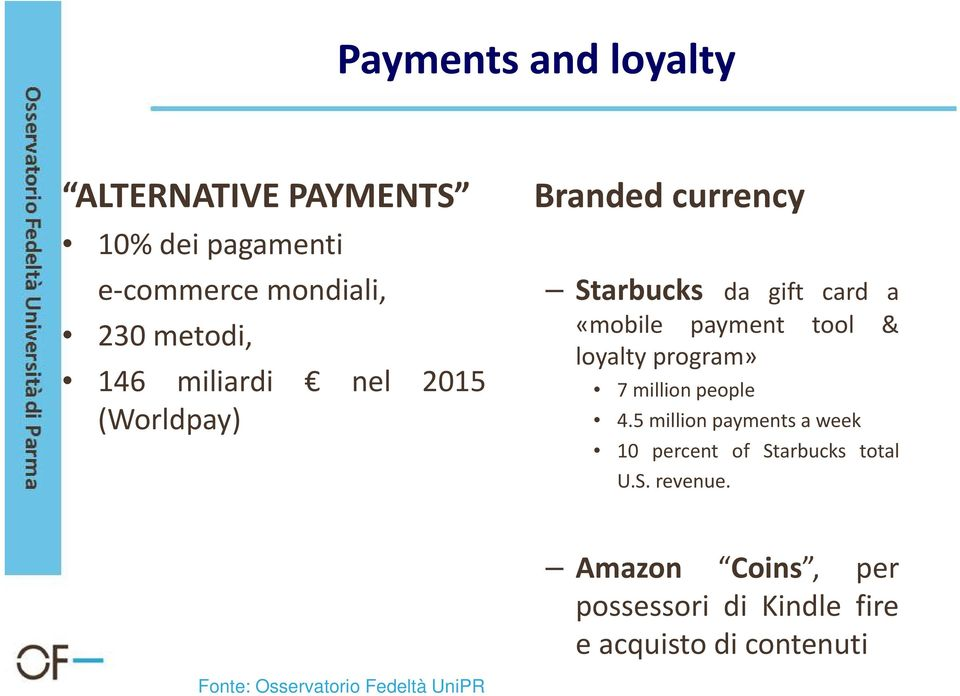 payment tool & loyalty program» 7 million people 4.