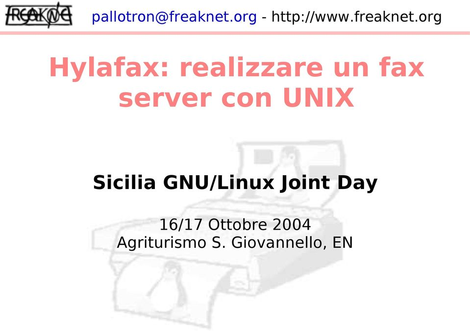 GNU/Linux Joint Day 16/17